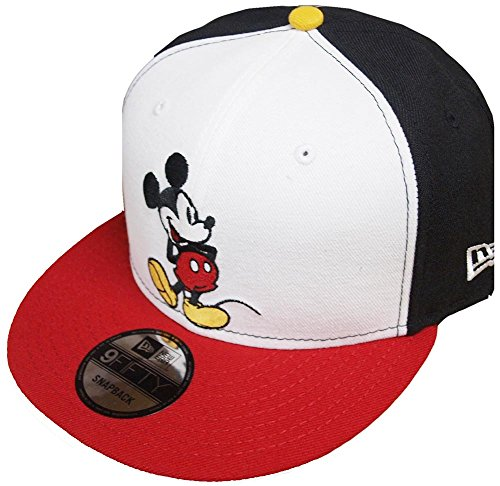 New Era Mickey Mouse WH Black White Red Snapback Cap 9fifty Limited Edition