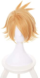 AICW Anime Cosplay Wigs Short Halloween Costume Synthetic Hair My Hero Wigs (Kaminari Denki)