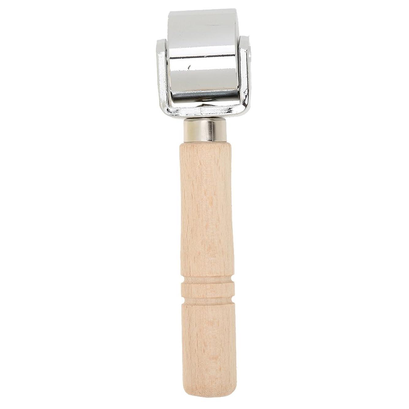一掃する歌手標高sharprepublic ローラー 革工具 レザークラフト ステンレス鋼 木材革工芸 折り目プレスツール 全3サイズ - S