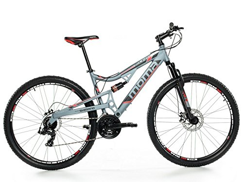 "Moma Bikes  EQX 29\"" - Bicicleta Montaña, SHIMANO 24V, Doble Freno Disco, Doble Susp. Talla L-XL (1.80-2.00m)"