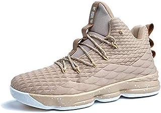 Zapatos Hombre Deporte de Baloncesto Sneakers de Malla para Correr Zapatillas Antideslizantes Negro Rojo Champán Verde Bri...
