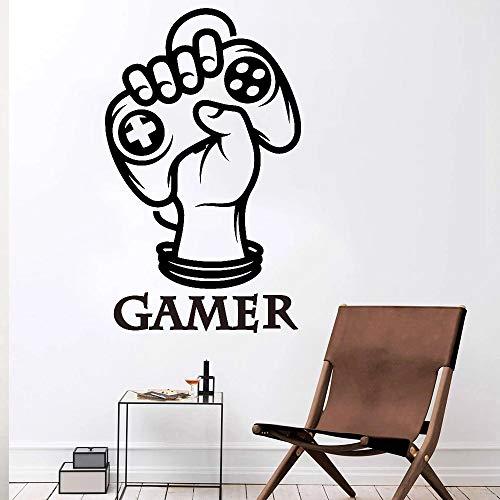 HGFDHG Adesivi murali Camera da Letto del Ragazzo Gamepad Decorazione Joystick Sala Videogiochi dormitorio finestre Creative Decalcomanie da Muro in Vinile