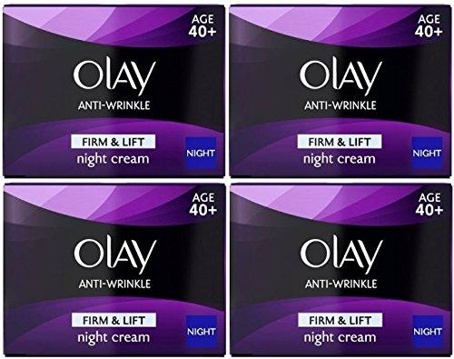 Olay Anti-Arrugas Firme y Levante la crema de noche (4x 50ml) edad 40+