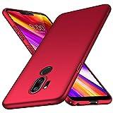 Almiao LG G7 ThinQ Hülle, [Ultra-Thin] Minimalistische Slim Schutzhülle für LG G7 ThinQ (Glattes Rot)