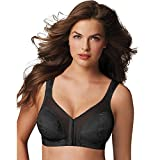 Playtex 18 Hour 'Easier On' Front-Close Wirefree Bra with Flex Back_Black_44C