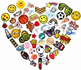 HeyaZea 55pcs Cool Embroidered Iron On Patches Cute Sewing On Patches Appliques for Clothes Jackets Hats Backpacks Jeans; Kids Boys Girls; Rainbows Unicorns Dinosaurs Roses Hearts Butterfly Animals