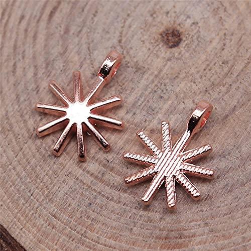 WANM Colgante Encantos De Copos De Nieve 20Pcs 10X13Mm Joyería Antigua Fabricación De Artesanías Hechas A Mano DIY