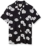 Amazon Brand - Goodthreads Men's Standard-Fit Short-Sleeve Camp Collar Hawaiian Shirt, Lotus Flower, X-Large
