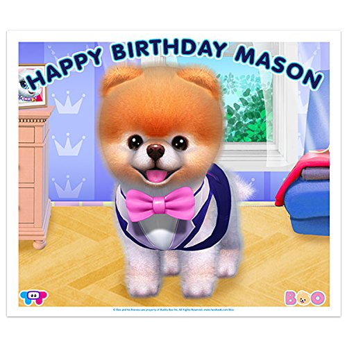 Boo the World\u2019s Cutest Dog With Sunglasses Birthday Banner Decoration