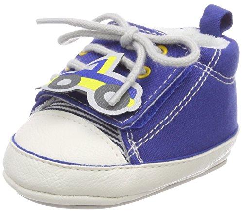 Sterntaler Baby-Schuh mit Klettverschluss und rutschfesten Sohlen für Jungen, Alter: 6-9 Monate, Größe: 18, Farbe: Blau, Art.-Nr.: 2301821