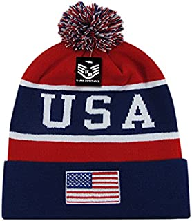 Rapiddominance Rapid Dominance Beanie, USA, NVY/Red, Navy Red