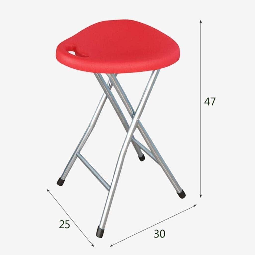 Pouf Repose-Pieds Tabouret Pliant Chaise Plastique Bureau Ordinateur Tabouret Accueil Loisirs Tabouret Portable Tabouret De Pêche (Couleur: Blanc) Red