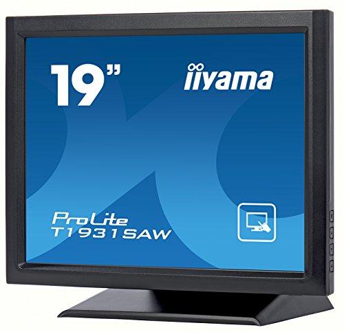 "iiyama Prolite T1931SAW-B5 - Écran LED - 19"" - écran Tactile - 1280 x 1024 - TN - 250 CD/m² - 1000:1-5 ms - HDMI, VGA, DisplayPort - Haut-parleurs - Noir Mat"