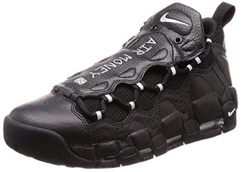 Nike Air More Money, Scarpe da Ginnastica Uomo, Nero (Black/Metallic Silver/Black 002), 40 EU