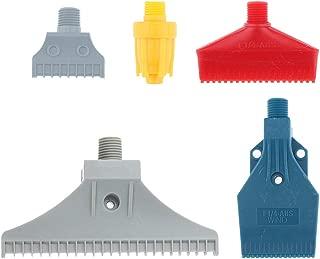 B Blesiya Multi Blow Flat Fan Nozzle, Air Jet Blower, Duster Dryer - Air Spreader -1/4 Bsp, 5Pcs