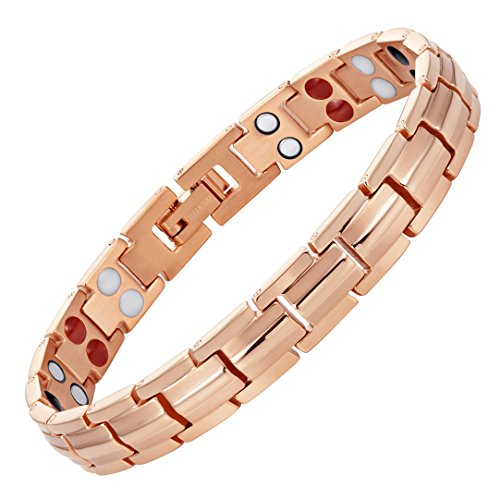Willis Judd Womens Strong Titanium Magnetic Bracelet for Arthritis Pain Relief Size with Adjusting Tool and Gift Boxed