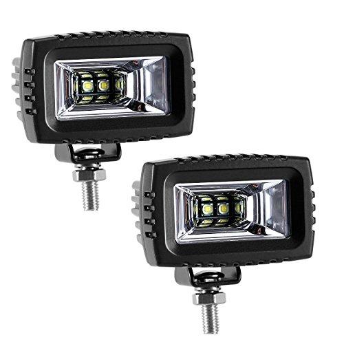 Pack of 10 LED Work Lights 12W,12V Lamp,Square Daytime Running Lights Waterproof IP67 for Car Vehicles ATVs,Jeeps,Boats,SUV,UTV,ATV