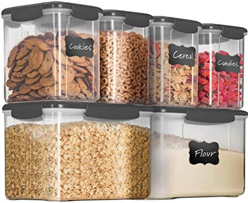 12 Piece Airtight Food Storage Containers With Lids BPA FREE Plastic Kitchen Pantry Storage product image