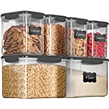 12-Piece Airtight Food Storage Containers With Lids - BPA-FREE Plastic Kitchen Pantry Storage Containers - Dry-Food-Storage Containers Set For Flour, Cereal, Sugar, Coffee, Rice, Nuts, Snacks Etc.
