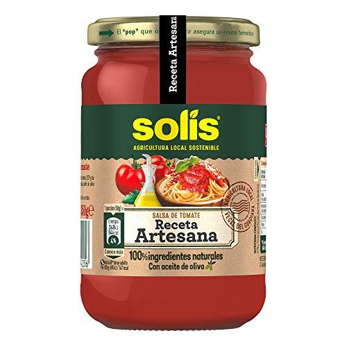 SOLIS Salsa de tomate Receta Artesana Frasco Cristal - 350g - Tomate...
