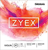 D'Addario Bowed Jeu de cordes pour violon D'Addario Zyex, manche 1/8, tension Medium