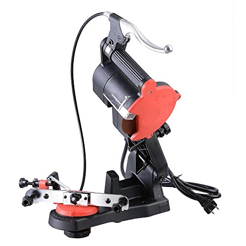 Yescom Electric Chain Saw Sharpener 4800RPM Bench Wall Mount Grinder Wheel Tool Brake