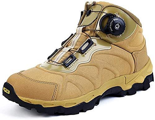 Hombres s Botas de la selva militar Botas de reacción rápida Zapatos de senderismo Transpirables Zapatos de combate de seguridad al aire libre Zapatos de escalada BOA System-EU43/US9.5_Khaki Iteration