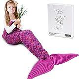 AmyHomie Mermaid Tail Blanket, Mermaid Blanket Adult Mermaid Tail...
