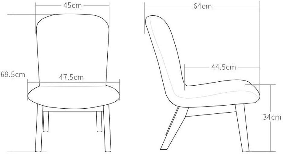 HLD Tabouret en bois massif canapé chaise tissu dossier chaise chaise de café loisirs petit canapé Chaises (Color : G) C