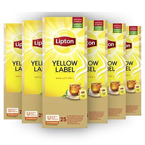 Lipton Yellow Label Zwarte Thee – 6 x 25 zakjes