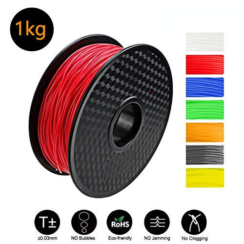 1.75mm ABS 3D Printer Filament - 1kg Spool/Roll (2.2 Lbs) - Dimensional Accuracy +/- 0.05mm For All ABS Compatible Printers 3D Printer Printing Filaments (Color : Purple)