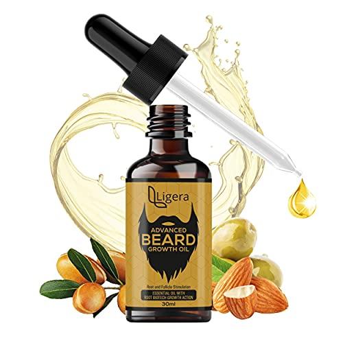 Ligera Beard Growth Oil |Advanced Beard & Mustache Growth Oil-10X Nourishing Oils For Stronger, Fluffier & Shinier Beard 30 ml | Made in India