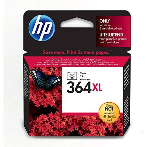 HP 364XL Foto-schwarz Original Druckerpatrone mit hoher Reichweite für HP Photosmart