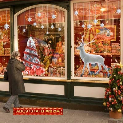 Ciervos blancos enumerados en el árbol de Navidad Pegatinas de pared de decoración navideña en el año