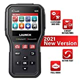LAUNCH OBD2 Scanner CR629 Code Reader, Automotive Scanner SRS ABS Airbag Diagnose, Oil/SAS/BMS Reset, Active Test, OBDII Full Functions, Check Engine Car Scanner Diagnostic for All Cars, Free Update