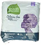 Seventh Generation Maxi Pads, Overnight with wings, Free & Clear Chlorine Free, 14 count