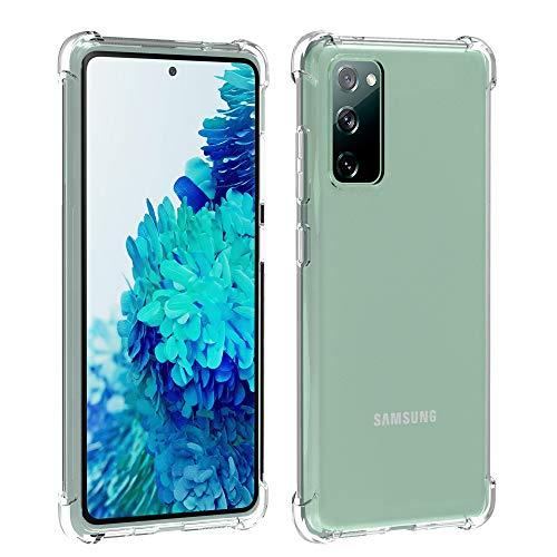 Migeec Hülle für Samsung Galaxy S20 FE 5G Transparent [Stoßfest] Weiche Silikon [Kratzfest] Flex TPU Bumper handyhülle Durchsichtige Schutzhülle(Nicht für S20)