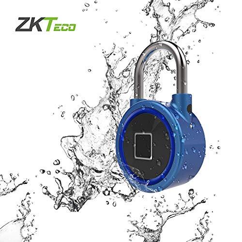 Candado Inteligente Azul - ZKTeco FB50 - Padlock con lector de huella