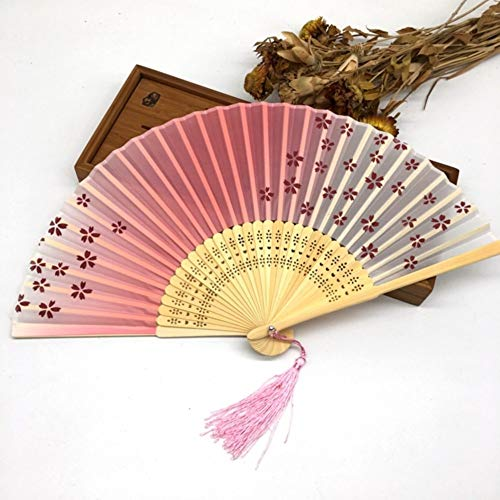 Razam klapventilator, 1 stuks, Chinees, Japans, roze, sakura, kersenbloesem, handtas, zomer, kunst, cadeau