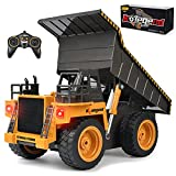 kolegend Remote Control Dump Truck RC Truck Construction Vehicle Truck Toys with Rechargeable Battery for 3 4 5 6 7 8 Years Old Toddlers Kids Boys and Girls