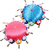 2 Pieces Needle Pin Cushion Oriental Handmade Pincushions Chinese Style Needle Cushion for Hand Sewing Needle...
