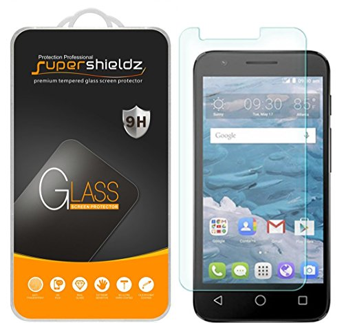 Supershieldz (2 Pack) for Alcatel Onetouch Pixi Avion LTE Tempered Glass Screen Protector, Anti Scratch, Bubble Free