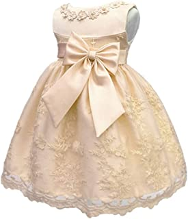 6318f2bf3c HX Baby Girl s Newborn Bowknot Gauze Christening Baptism Dress Infant  Flower Girls Wedding Dresses 13 Color