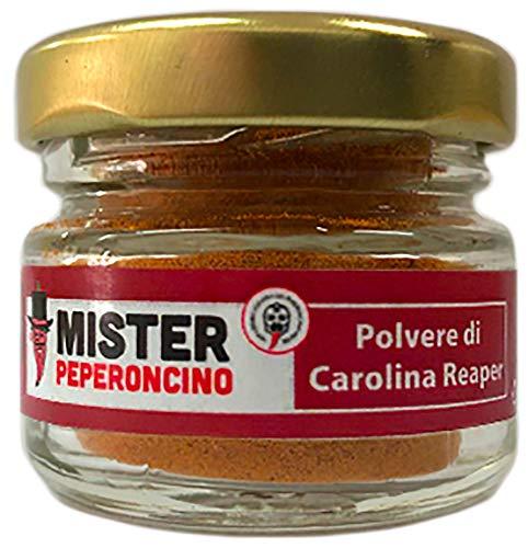 Carolina Reaper - Polvere di Peperoncino (10Gr) - Il peperoncino più piccante del mondo - Mister Peperoncino