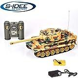 s-idee® KingTiger 22003 Battle Panzer 99808 1:28 con sistema de combate por infrarrojos integrado, 2,4 GHz, RC R/C, tanque teledirigido