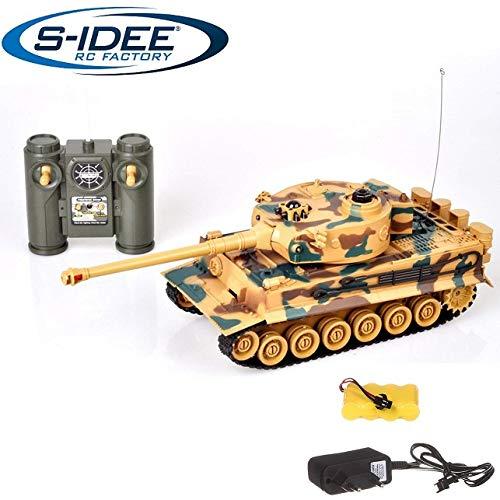 s-idee 22003 Battle Carro armato 99808 KingTiger 1:28 con sistema di combattimento a infrarossi integrato 2.4 Ghz RC R/C