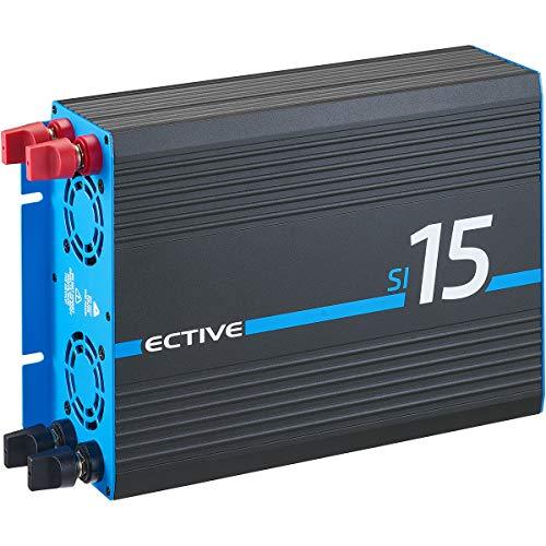 ECTIVE 1500W 12V zu 230V Sinus-Wechselrichter SI 15 mit reiner Sinuswelle in 7 Varianten