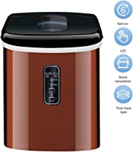 Automatic Ice Maker, 16Kgs/24H Household Bullet Round Ice Make Machine for Family Small Bar Coffee Shop