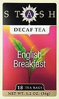 Stash Tea - プレミアム ・ イングリッシュ ・ ブレックファーストのカフェイン抜きのコーヒー - 1ティーバッグ