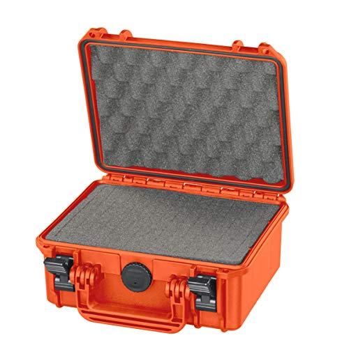 MAX Cases - Valigetta con Spugna Cubettata per Trasportare e Proteggere Apparecchiature e Materiali Sensibili, MAX235H105S Arancione, Dimensioni Interne 235 x 180 x 106 mm
